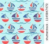 cute seamless pattern ...   Shutterstock .eps vector #1145847470