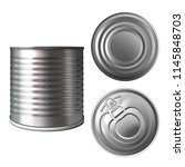 metal can or tin vector... | Shutterstock .eps vector #1145848703