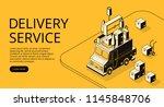 delivery service vector... | Shutterstock .eps vector #1145848706
