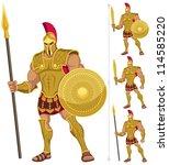 Greek Hero Isolated On White....