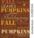 happy thanksgiving day card....   Shutterstock .eps vector #114585244