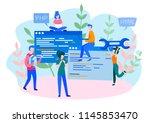 concept programmer  coding ... | Shutterstock .eps vector #1145853470