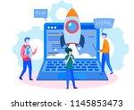 concept programmer  coding ... | Shutterstock .eps vector #1145853473