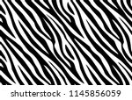 zebra print  animal skin  tiger ... | Shutterstock .eps vector #1145856059
