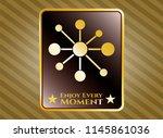 golden emblem or badge with...   Shutterstock .eps vector #1145861036