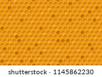 honey comb pattern. glitter... | Shutterstock .eps vector #1145862230