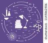 scientific  education elements. ... | Shutterstock .eps vector #1145862506