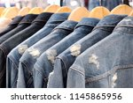 many scratch jacket jeans... | Shutterstock . vector #1145865956