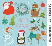 illustration set of animals ...   Shutterstock . vector #1145868950