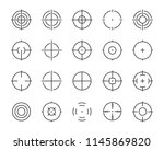 set of target line icons | Shutterstock .eps vector #1145869820