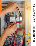 electrical  terminal box....   Shutterstock . vector #1145870453