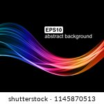 abstract light wave futuristic... | Shutterstock .eps vector #1145870513