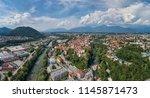 panorama view of kranj ... | Shutterstock . vector #1145871473