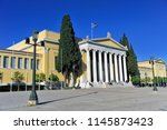 athens  greece   april 21  view ... | Shutterstock . vector #1145873423
