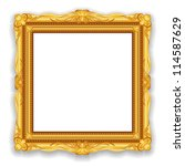 gold vintage frame. decorative... | Shutterstock .eps vector #114587629