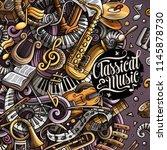 cartoon vector doodles classic... | Shutterstock .eps vector #1145878730