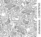 cartoon hand drawn back to... | Shutterstock .eps vector #1145878760