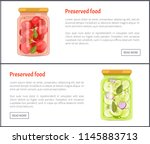 preserved food tomatoes set of... | Shutterstock .eps vector #1145883713