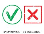 tick and cross rubber stamp... | Shutterstock . vector #1145883803