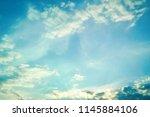 dramatic sky in evening sunlight | Shutterstock . vector #1145884106