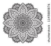 vector indian mandala   Shutterstock .eps vector #1145885876