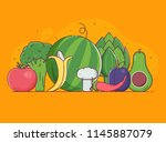 organic design concept with... | Shutterstock .eps vector #1145887079