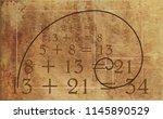 golden ratio template vector... | Shutterstock .eps vector #1145890529