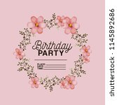 birthday party invitation with...   Shutterstock .eps vector #1145892686