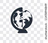 worldwide vector icon isolated... | Shutterstock .eps vector #1145894849