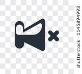 mute vector icon isolated on...