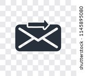send vector icon isolated on... | Shutterstock .eps vector #1145895080