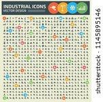 industrial vector icon set... | Shutterstock .eps vector #1145895146