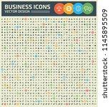 business vector icon set design | Shutterstock .eps vector #1145895509