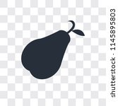 pear vector icon isolated on... | Shutterstock .eps vector #1145895803
