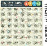 big data vector icon set design | Shutterstock .eps vector #1145896856