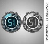 electronic digital stopwatch.... | Shutterstock .eps vector #1145898920