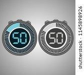 electronic digital stopwatch.... | Shutterstock .eps vector #1145898926