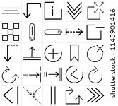 set of 25 icons such as play ... | Shutterstock .eps vector #1145901416