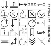 set of 25 icons such as... | Shutterstock .eps vector #1145901536