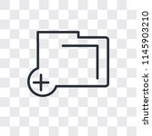 add folder button vector icon...   Shutterstock .eps vector #1145903210