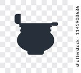 cauldron vector icon isolated... | Shutterstock .eps vector #1145903636