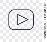 play button vector icon... | Shutterstock .eps vector #1145905640