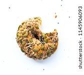 fresh bun donut whole wheat...   Shutterstock . vector #1145906093