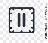 big pause button vector icon...