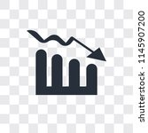 bar stats vector icon isolated... | Shutterstock .eps vector #1145907200