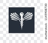 caduceus medical vector icon...