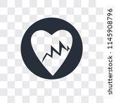 lifeline of heartbeats on a... | Shutterstock .eps vector #1145908796