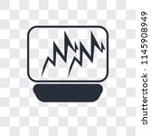 pulse line vector icon isolated ... | Shutterstock .eps vector #1145908949