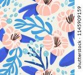 seamless vibrant floral pattern ... | Shutterstock . vector #1145909159