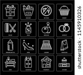 set of 16 icons such as kitchen ...